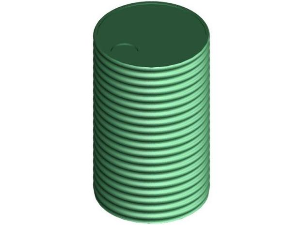 7mm Scale 200 Gal Tank 3d printed 7mm Scale 200 Gallon Corrugated Iron Water Tank