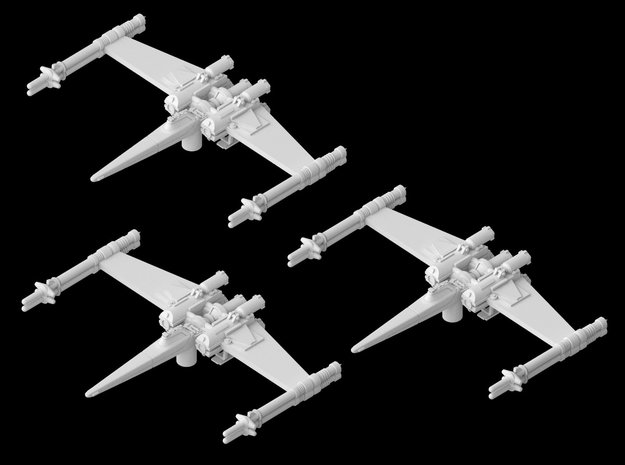 "3x Cantwell's Prototype X-Wing ""Closed"" (1/270)"