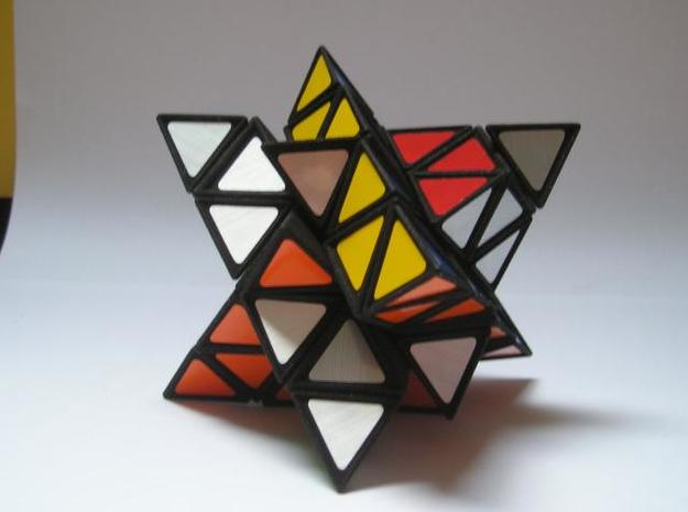 Tetrahedral Twins 3d printed Twisting