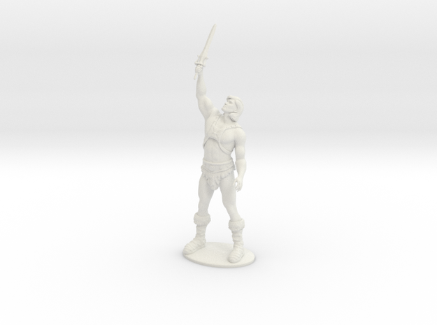 He-Man Miniature in White Strong & Flexible: 1:55