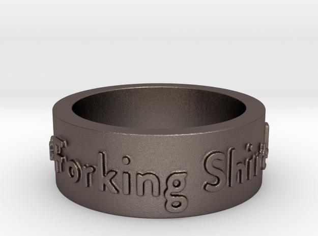 The Good Place Ring in Stainless Steel: 8 / 56.75