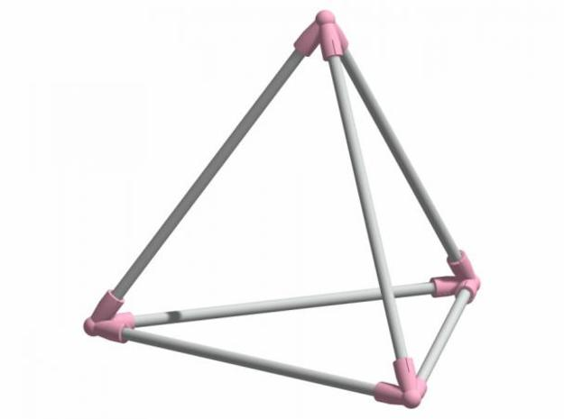 Tetrahedron 3d printed Description