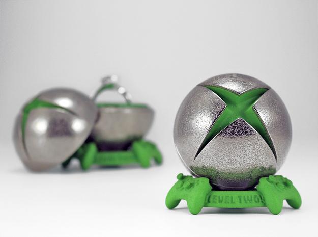 "X Ring BOX - Proposal Geek/Gamer ""Ring Box"" (BODY) in Polished Nickel Steel"