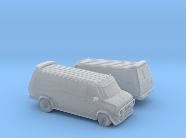 1/120 2X GMC Vandura Van in Smooth Fine Detail Plastic