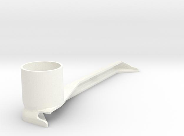 iPad Air 1 Camera/Cmpd Microscope Adapter (28mm)  in White Processed Versatile Plastic