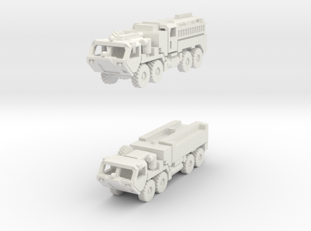 HEMTT Fire Fighting Unit 1/285 scale in White Natural Versatile Plastic