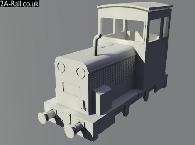 """5.5mm Scale Talyllyn Railway """"Merseysider"""" Body Ki 3d printed Test Render"""