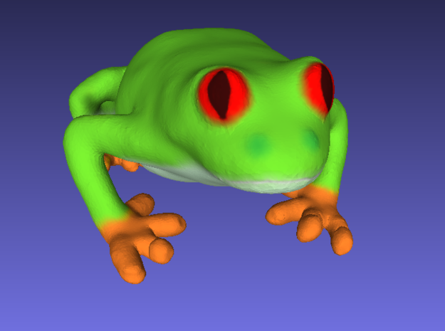 Red-Eyed Tree Frog in Full Color Sandstone