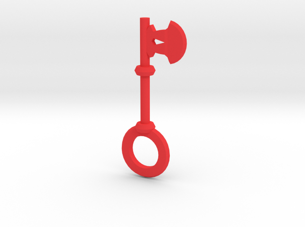Axe Key in Red Strong & Flexible Polished