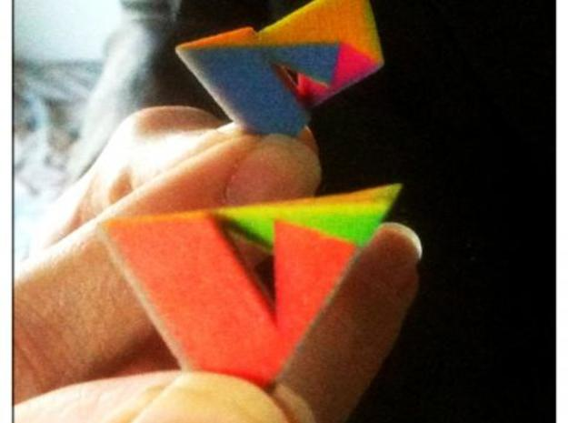 Szilassi polyhedron coloured 3d printed Both sides now