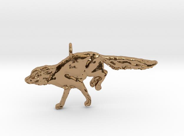 Fleeing Fox in Polished Brass
