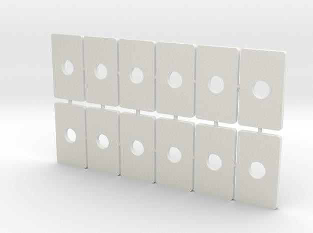 Coupler Box Cover V1 in White Strong & Flexible