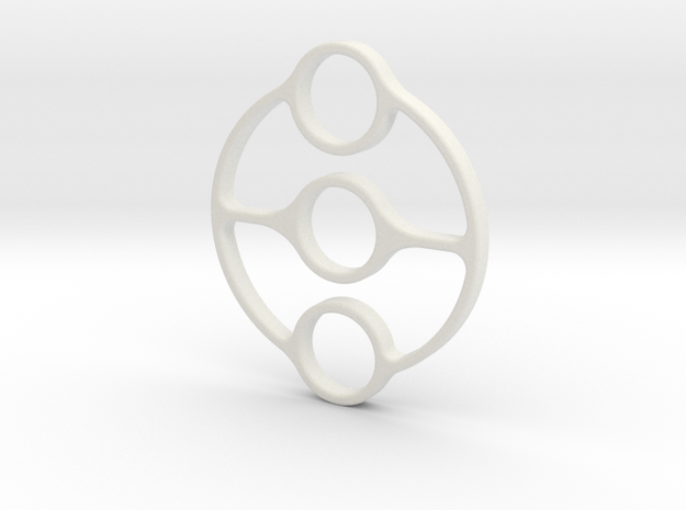 Bispinner (spinner) in White Natural Versatile Plastic