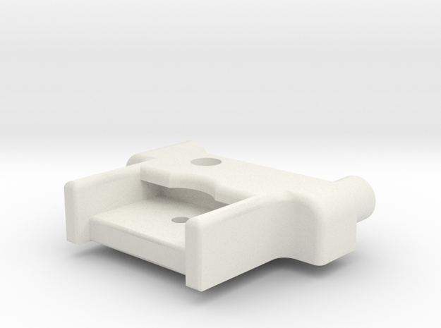 M05 Battery Mount Offset (Right Side) in White Natural Versatile Plastic
