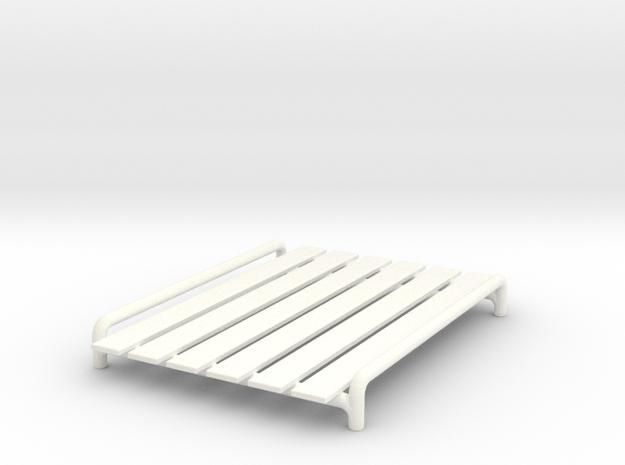 1/32 Scale Roof Rack in White Processed Versatile Plastic