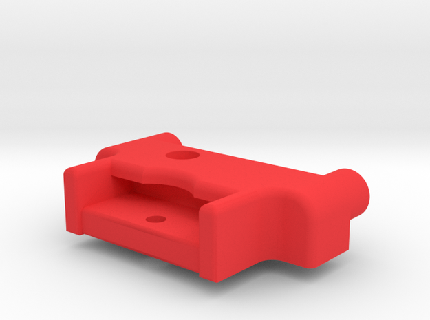Symmetric M05 Battery Mount (Right Side) in Red Processed Versatile Plastic
