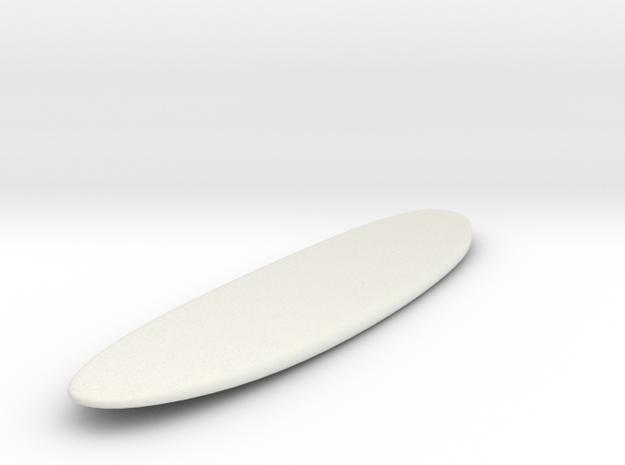 Surfing Longboard Surfboard 1:24 Scale in White Strong & Flexible