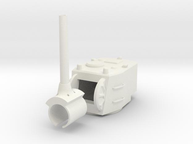 1/30 SU-12-180 Turret in White Natural Versatile Plastic
