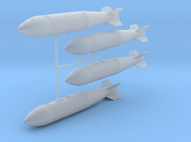 WE.177A Nuclear Weapon (quad pack) in Smooth Fine Detail Plastic: 1:48 - O