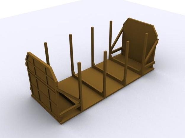 CIE 2 Axle Timber Wagon OO Scale  3d printed Computer Render of the Timber Wagon