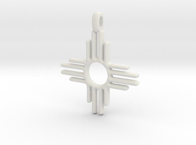 Zia Sun Native American Symbol Jewelry Pendant 2.5