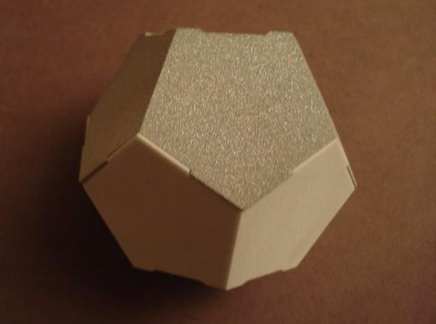 Half DodBox - Small 3d printed White Strong and Flexible and Alumide