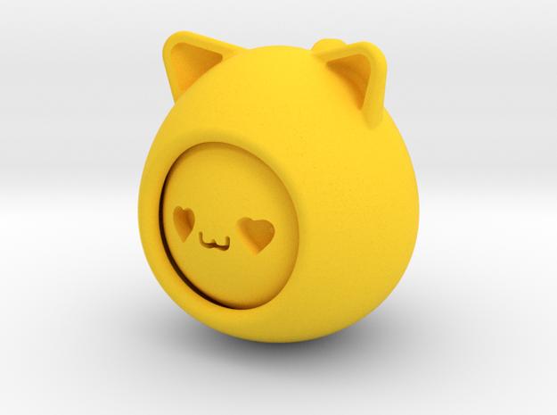 emoji cat in Yellow Processed Versatile Plastic