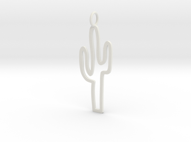 Large Cactus Charm! in White Strong & Flexible