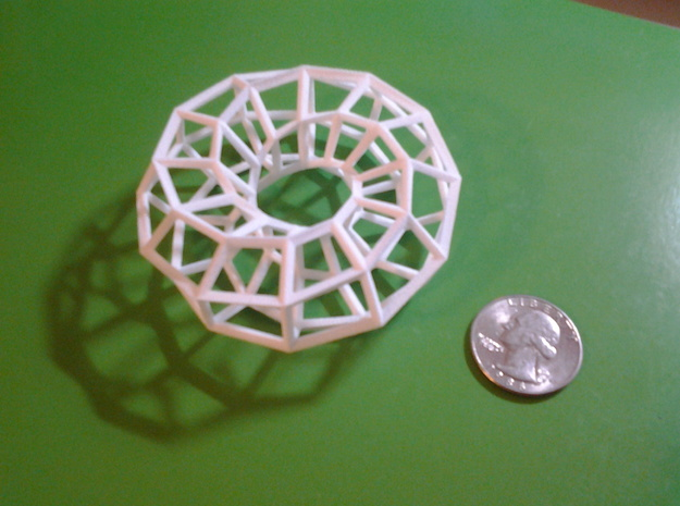 Hexagonal Torus (Wireframe) 3d printed