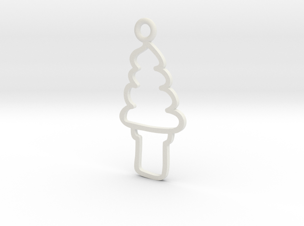 Soft Serve Charm! in White Strong & Flexible