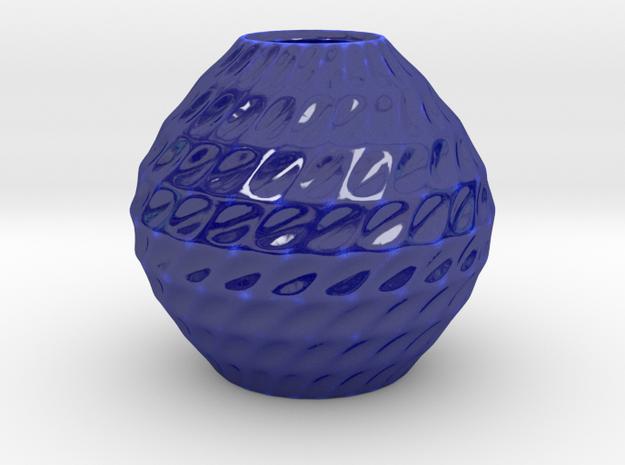 The Nautilus Pot in Gloss Cobalt Blue Porcelain