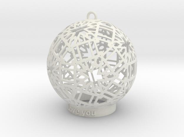 Modern Ornament in White Strong & Flexible