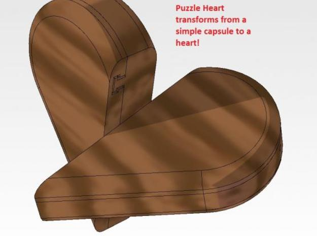 Puzzle Heart 3d printed Shown Opening