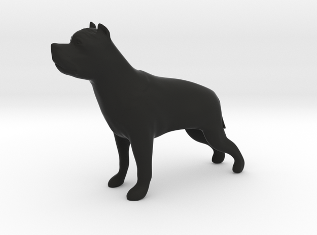 American Staffordshire figurine in Black Strong & Flexible