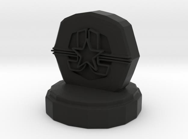 DC Pawn in Black Natural Versatile Plastic
