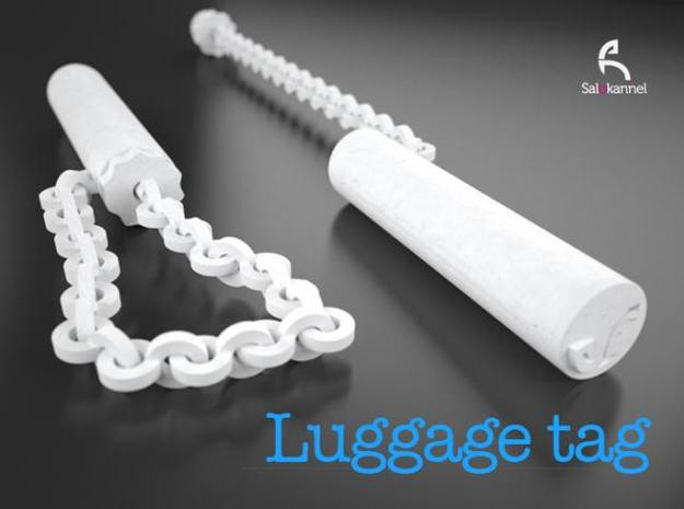 TUBE-Luggage tag in White Strong & Flexible