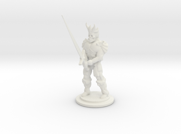 The Dead King Mini 28mm in White Strong & Flexible