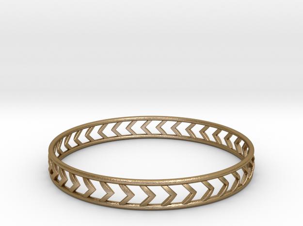 Arrow Bracelet Medium in Polished Gold Steel