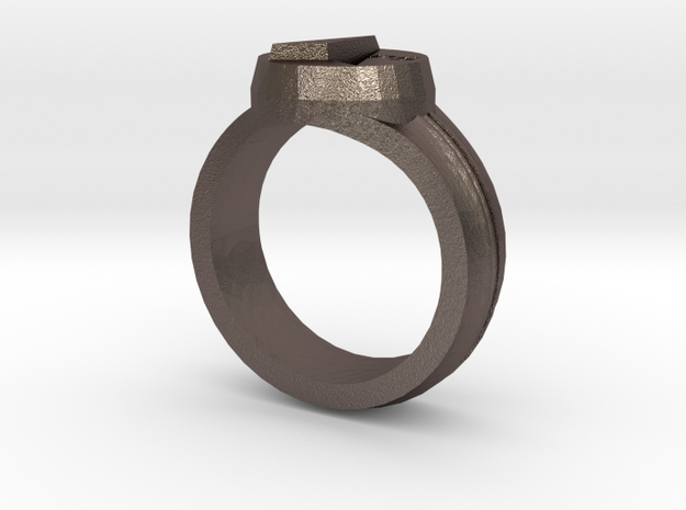 MAPS Signet Ring in Stainless Steel: 7 / 54