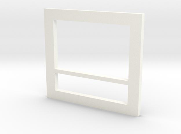Milano Tape Deck Face in White Processed Versatile Plastic
