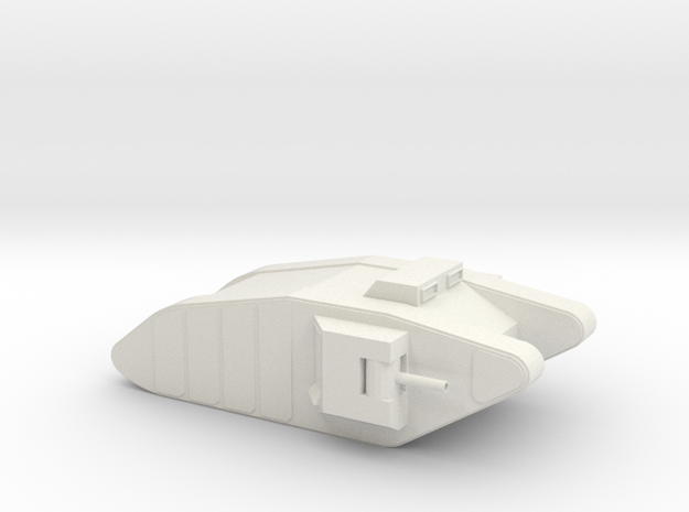 1:144 Mk1 Tank  in White Natural Versatile Plastic