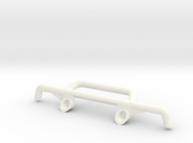 Tbb001-02  Tyco Baja Bandit Front Bumper - No AUX  in White Processed Versatile Plastic