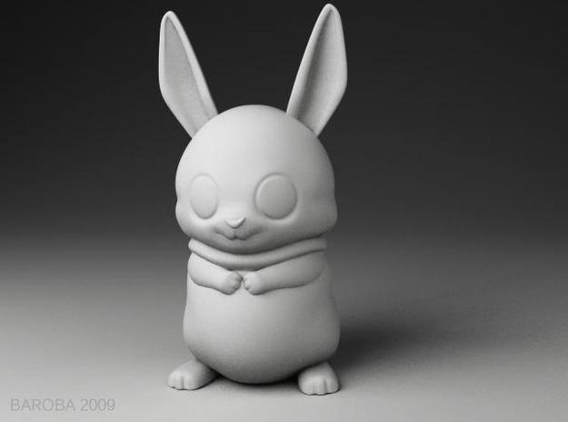 Bowie the bunny (2mm thick) in White Strong & Flexible