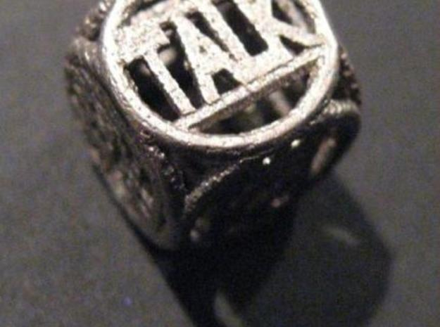 >> Text dice 2 1cm3 3d printed Description