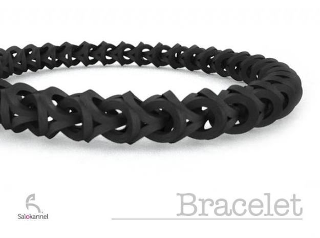 Bracelet - Crossover in White Strong & Flexible