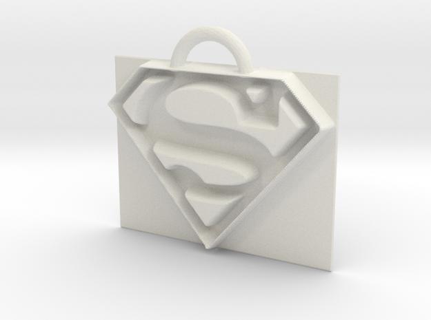 Superman logo in White Natural Versatile Plastic