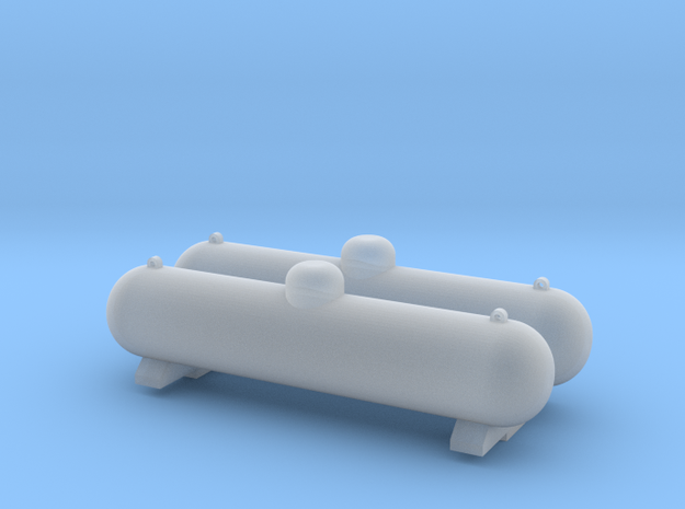 Propane Large Tank 2 Pack HO Scale 1-87 FUD in Smooth Fine Detail Plastic