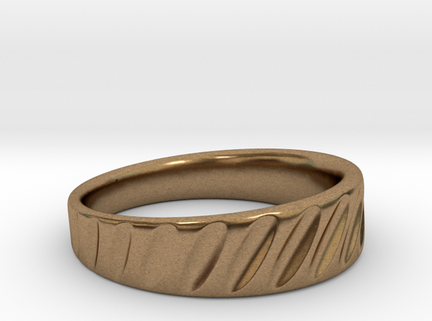 Ring Rotation Gradient Scallops in Natural Brass