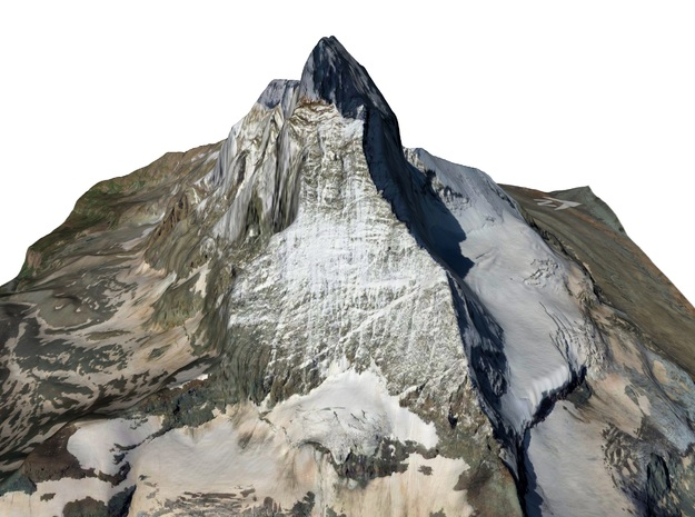 "Matterhorn / Monte Cervino Map: 6"" (15.2 cm) in Matte Full Color Sandstone"