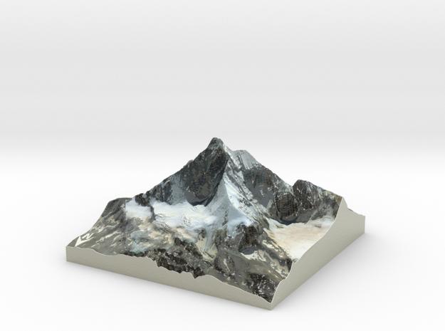 "Matterhorn / Monte Cervino Map: 4"" (10.1 CM) in Coated Full Color Sandstone"